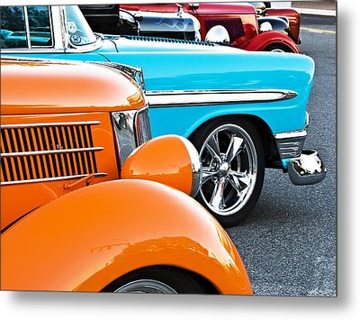 Car Show Beauties Metal Print by Marion McCristall