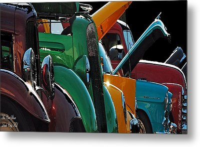 Car Show V Metal Print by Robert Meanor