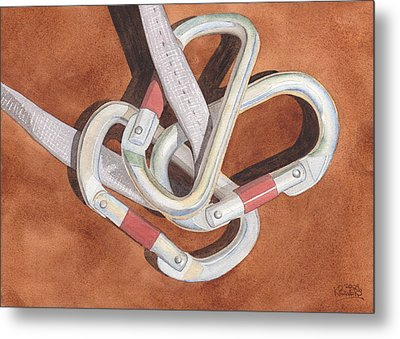 Carabiners Metal Print by Ken Powers