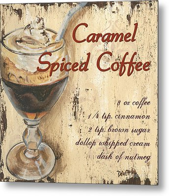 Caramel Spiced Coffee Metal Print