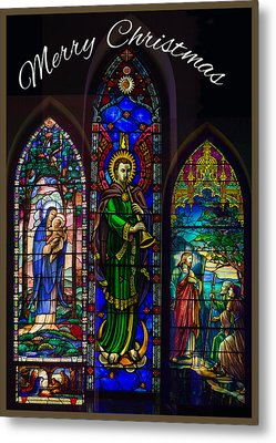 Card Merry Christmas Metal Print by Robert G Kernodle