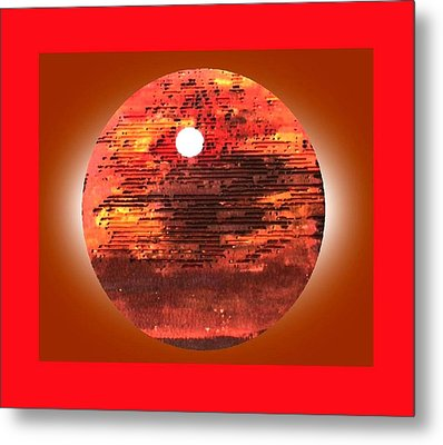 Cardboard Sunset Metal Print by Gabe Art Inc
