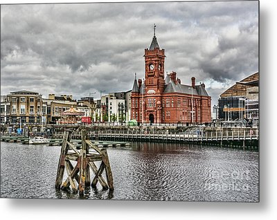 Cardiff Bay Skyline Metal Print by Steve Purnell
