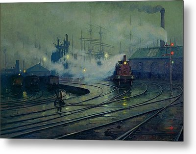 Cardiff Docks Metal Print by Lionel Walden