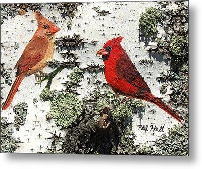 Cardinal Pair II Metal Print by Philip Hall