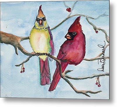 Cardinals Metal Print by Dale Bernard