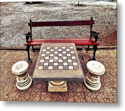 Care For A Game Of Chess? Metal Print