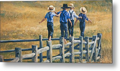 Carefree Life Metal Print by Laurie Hein