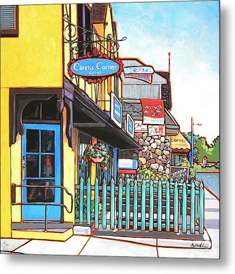 Caren's Corner Metal Print by Nadi Spencer