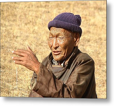 Caretaker Of The Monastery Metal Print by Diane Height