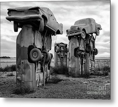 Carhenge Nebraska 21 Metal Print by Bob Christopher