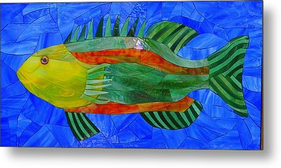 Caribbean Grouper Metal Print by Charles McDonell