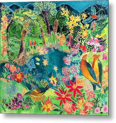 Caribbean Jungle Metal Print by Hilary Simon