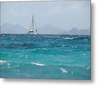 Metal Print featuring the photograph Caribbean Sailing by Margaret Bobb