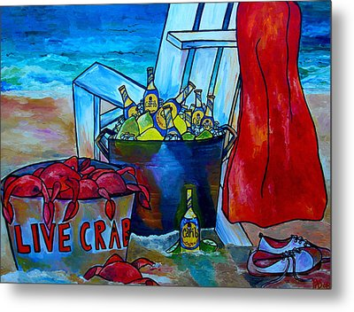 Caribe And Crab Metal Print by Patti Schermerhorn