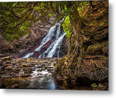 Metal Print featuring the photograph Caribou Falls In Fall by Rikk Flohr