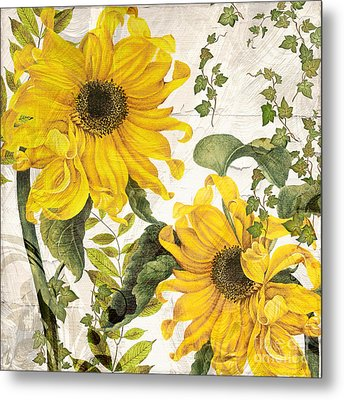 Carina Sunflowers Metal Print by Mindy Sommers