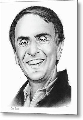 Carl Sagan Metal Print by Greg Joens