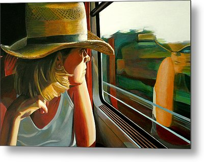 Carla Traveling Metal Print by Jose Roldan Rendon