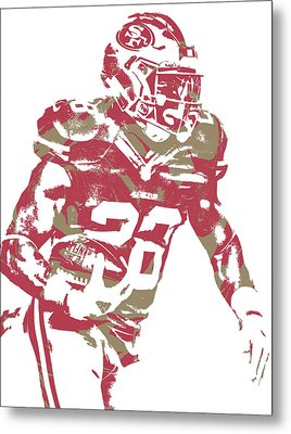 Carlos Hyde San Francisco 49ers Art 4 Metal Print