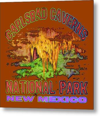 Carlsbad Caverns National Park Metal Print by David G Paul