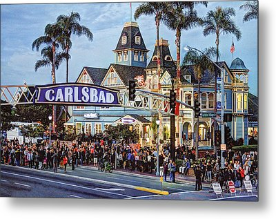 Carlsbad Village Sign Metal Print