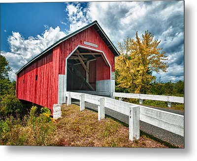 Carlton Bridge Metal Print by Fred LeBlanc