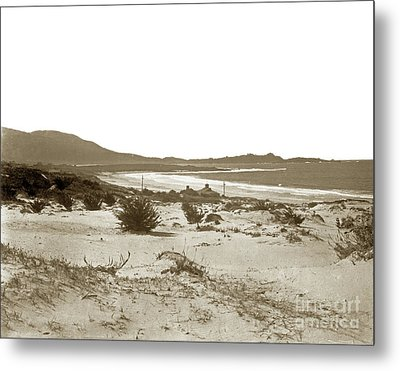 Carmel Beach, Carmel Point And Point Lobos Circa 1925 Metal Print by California Views Mr Pat Hathaway Archives