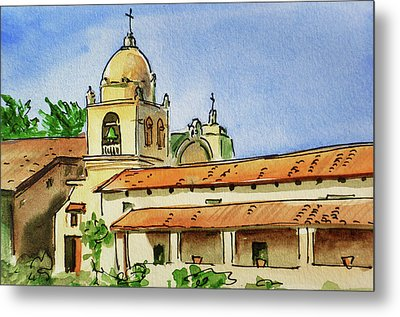 Carmel By The Sea - California Sketchbook Project  Metal Print by Irina Sztukowski