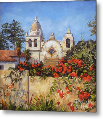 Carmel Mission Metal Print by Shelley Cost