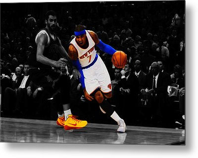 Carmelo Anthony Metal Print by Brian Reaves