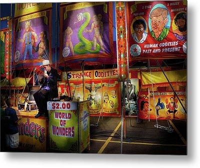 Carnival - Strange Oddities  Metal Print by Mike Savad