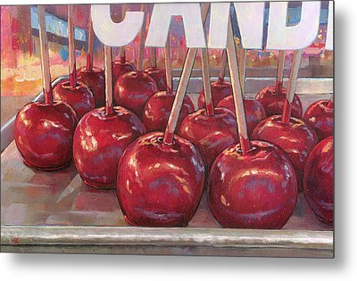 Carnival Apples Metal Print