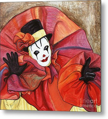 Carnival Clown Metal Print by Patty Vicknair