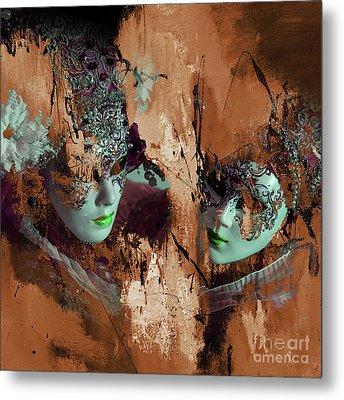 Carnival Mask Metal Print by Gull G