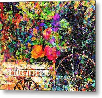 Carnival Of Flowers Abstract Realism Metal Print