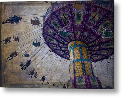 Carnival Ride At The Fair Metal Print by Garry Gay