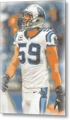 Carolina Panthers Luke Kuechly Metal Print