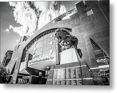 Carolina Panthers Stadium Black And White Photo Metal Print