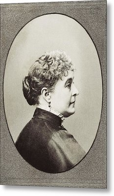 Caroline Lavinia Scott Harrison Known Metal Print by Vintage Design Pics