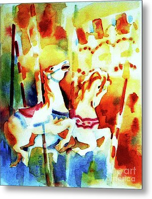 Metal Print featuring the painting Carousal 4 by Kathy Braud