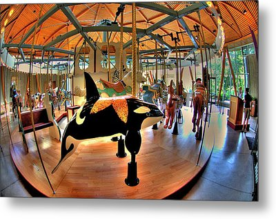 Carousel 2 At The Butchart Gardens Metal Print by Lawrence Christopher