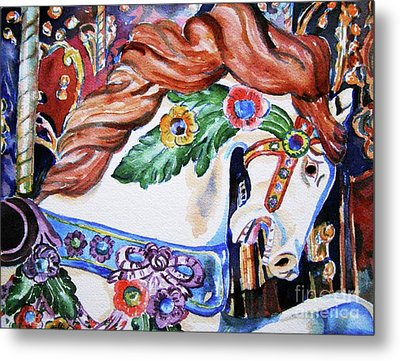 Carousel Horse Metal Print by Mary Haley-Rocks