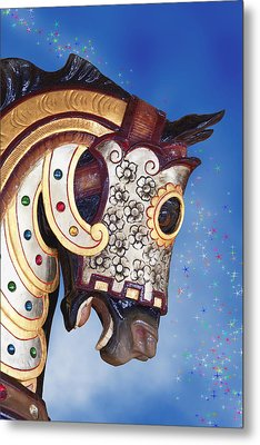 Carousel Horse Metal Print by Tom Mc Nemar