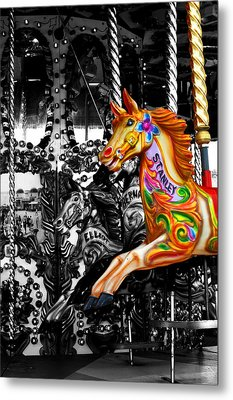 Carousel In Isolation Metal Print