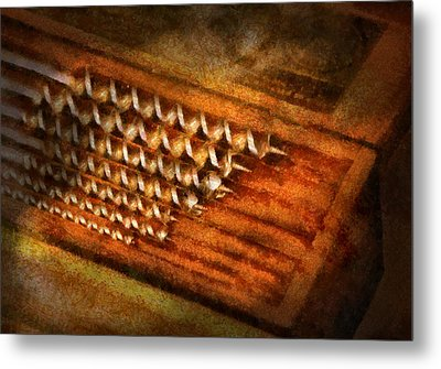 Carpenter - Auger Bits  Metal Print by Mike Savad