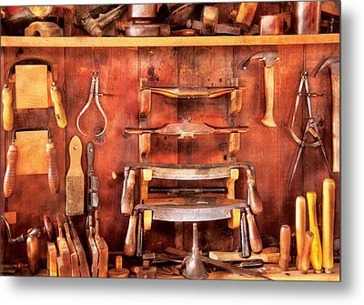 Carpenter - Spoke Shaves Metal Print by Mike Savad