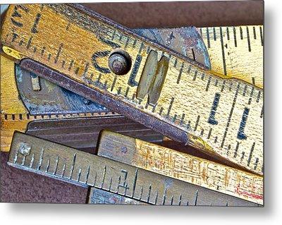 Carpenter's Rule Metal Print