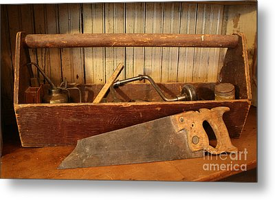 Carpenter's Toolbox Metal Print by Marna Edwards Flavell