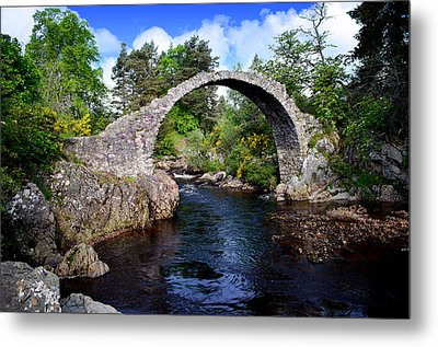 Carr Bridge Scotland Metal Print